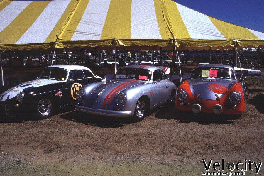 Three Porsche 356 racers