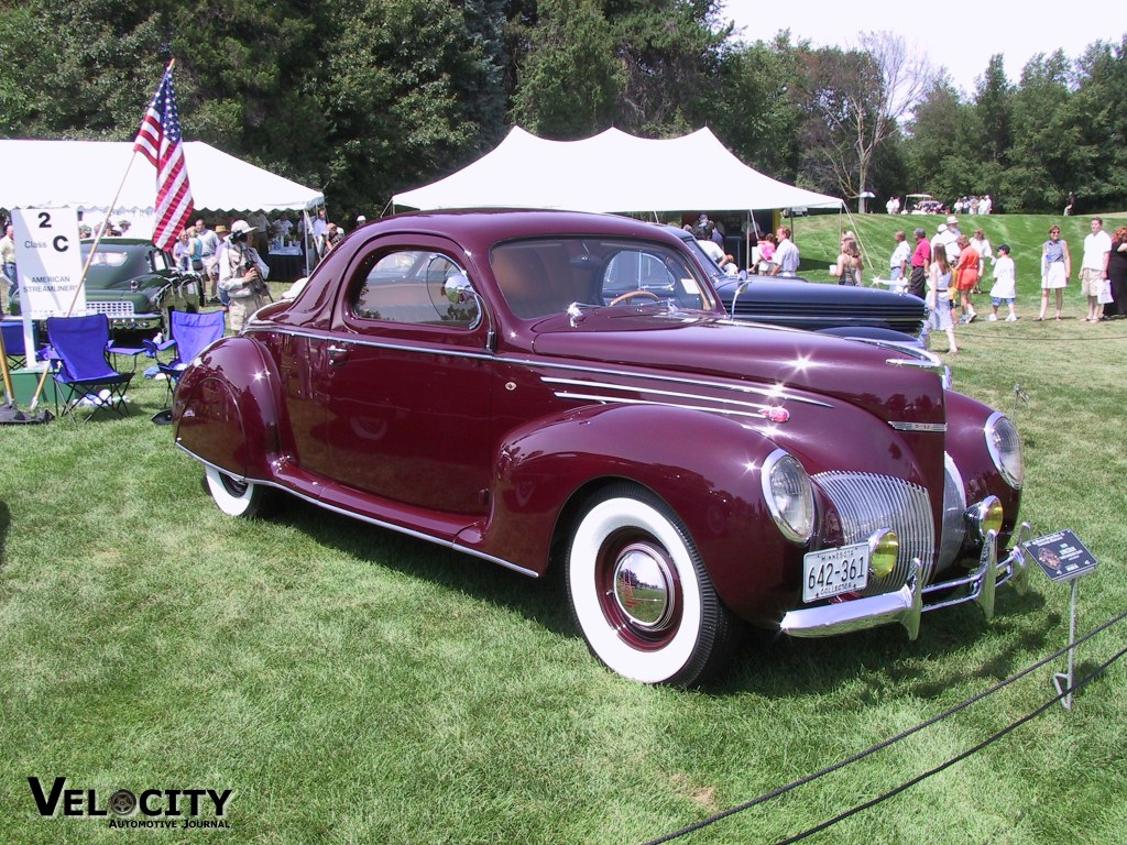 1939 Lincoln Three-window Coupe