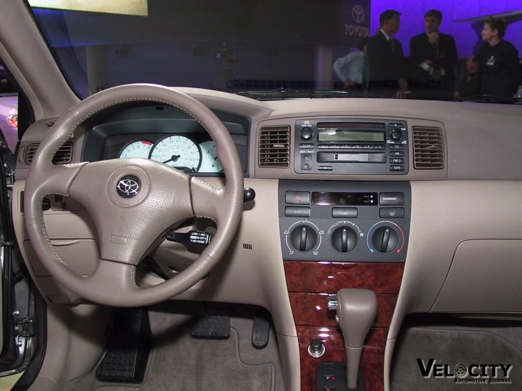 Toyota Corolla Interior 2002 Toyota Corolla 2002 Interior