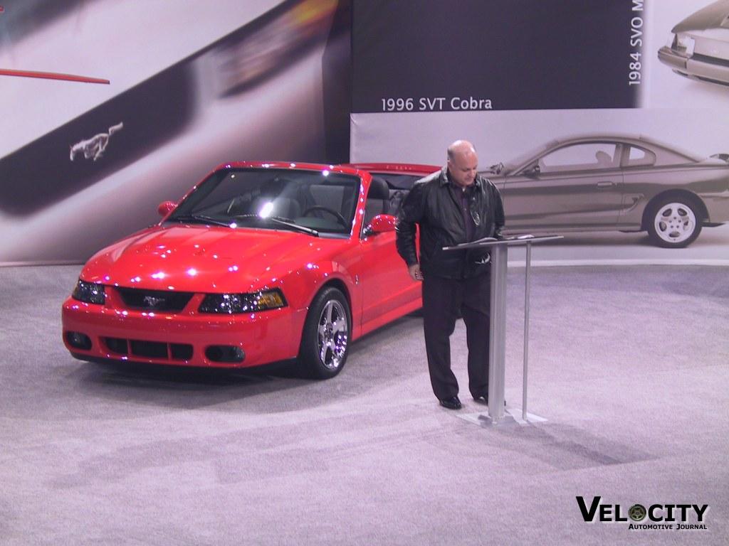 2003 Ford SVT Cobra convertible (pictured w/ John Coletti)
