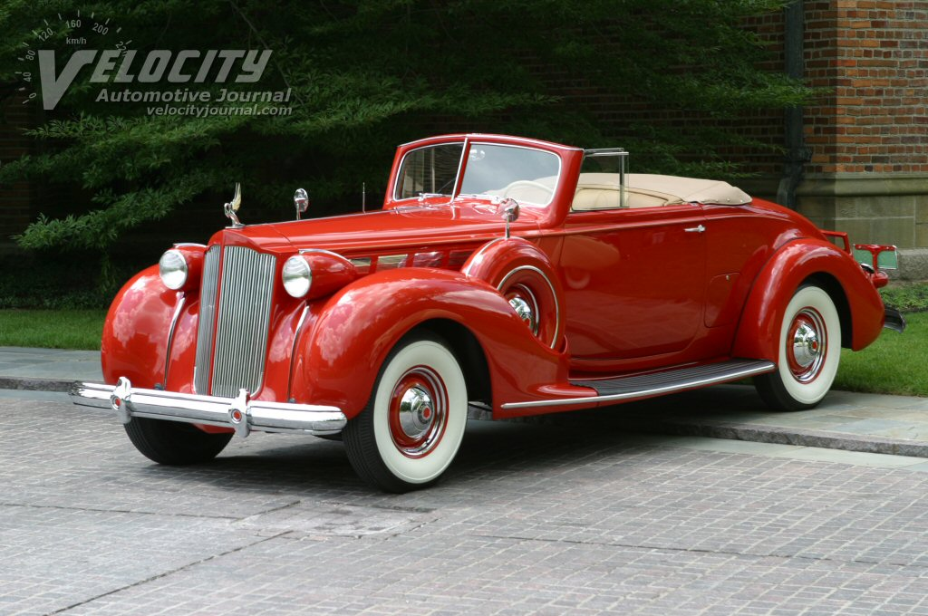 1938 Packard Super 8 1604 Convertible Coupe hood