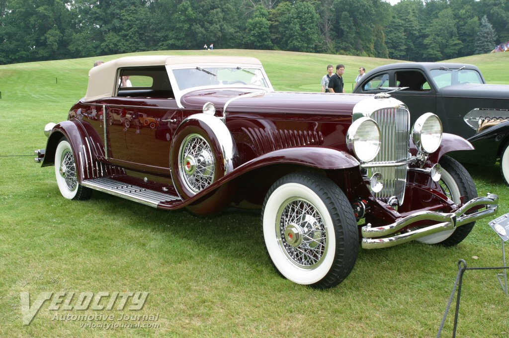 1933 Duesenberg Model J Rollston Convertible Torpedo Victoria