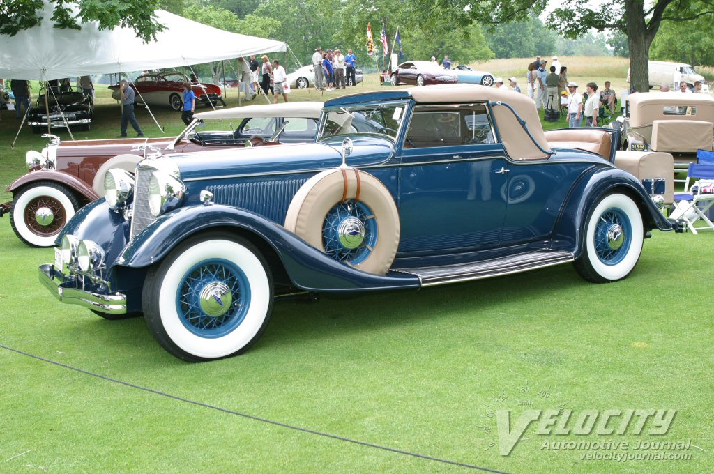 1933 Lincoln KB convertible coupe