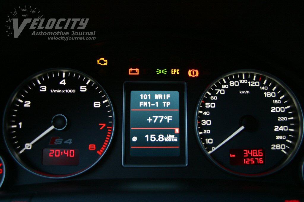 2004 Audi S4 instrumentation