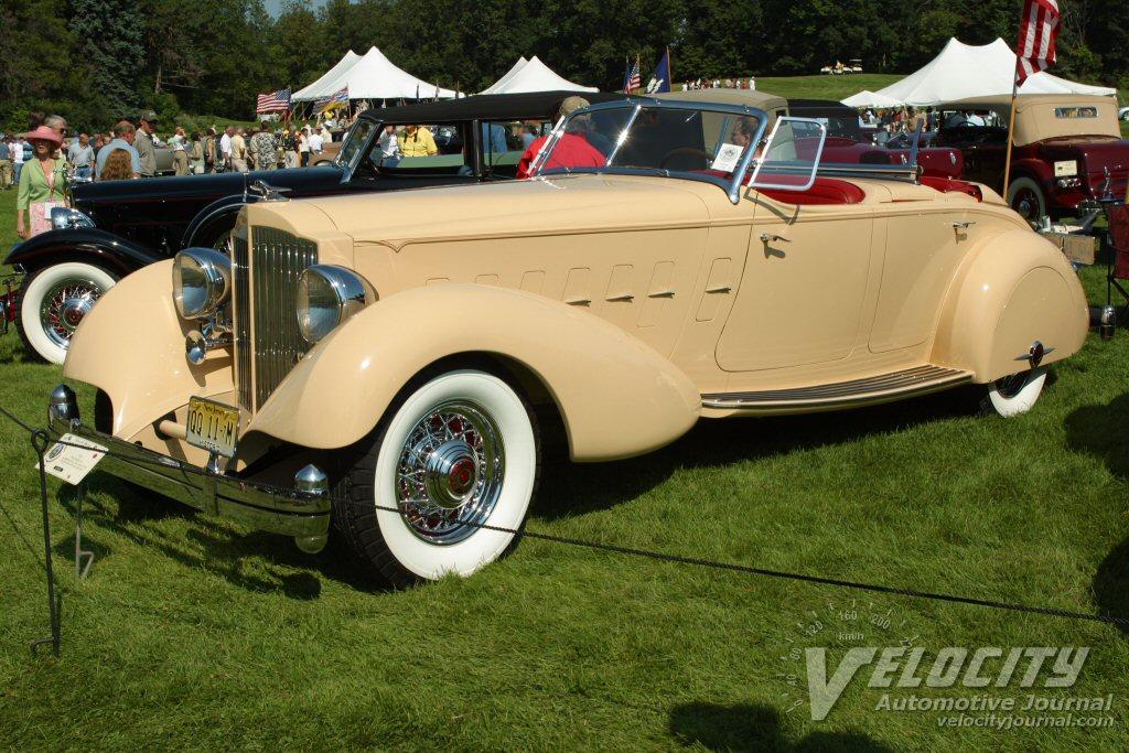 1934 Packard 12 LeBaron Dual Cowl Phaeton