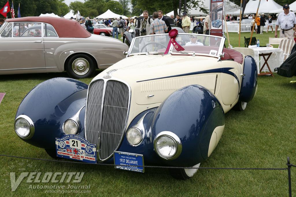 1939 Delahaye 135M convertible by Figoni & Falachi