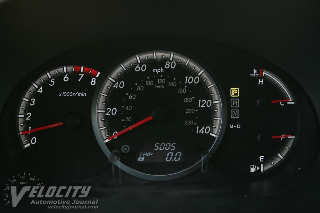 2008 Mazda MAZDA5 Instrumentation