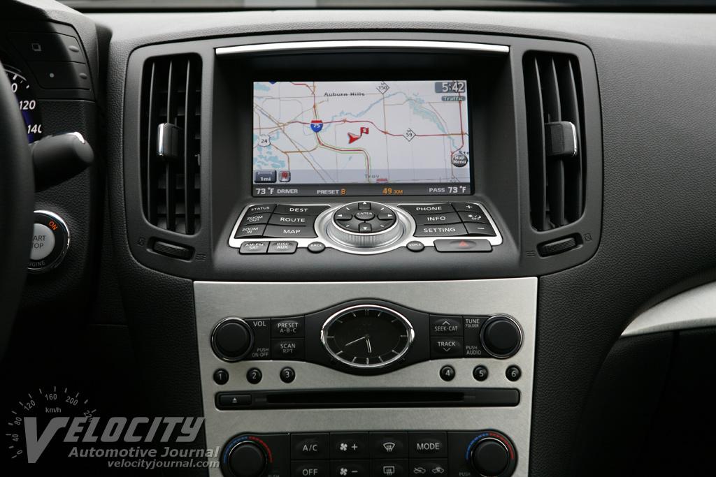 2009 Infiniti G37s Sedan Instrumentation