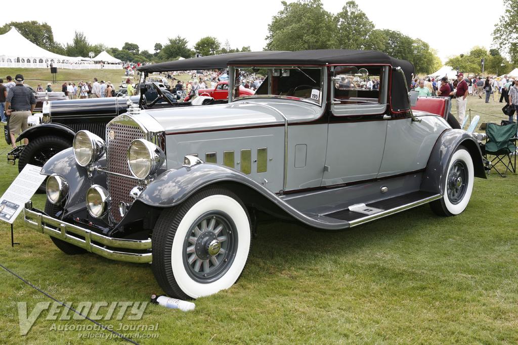 1929 Pierce-Arrow model 143 convertible coupe