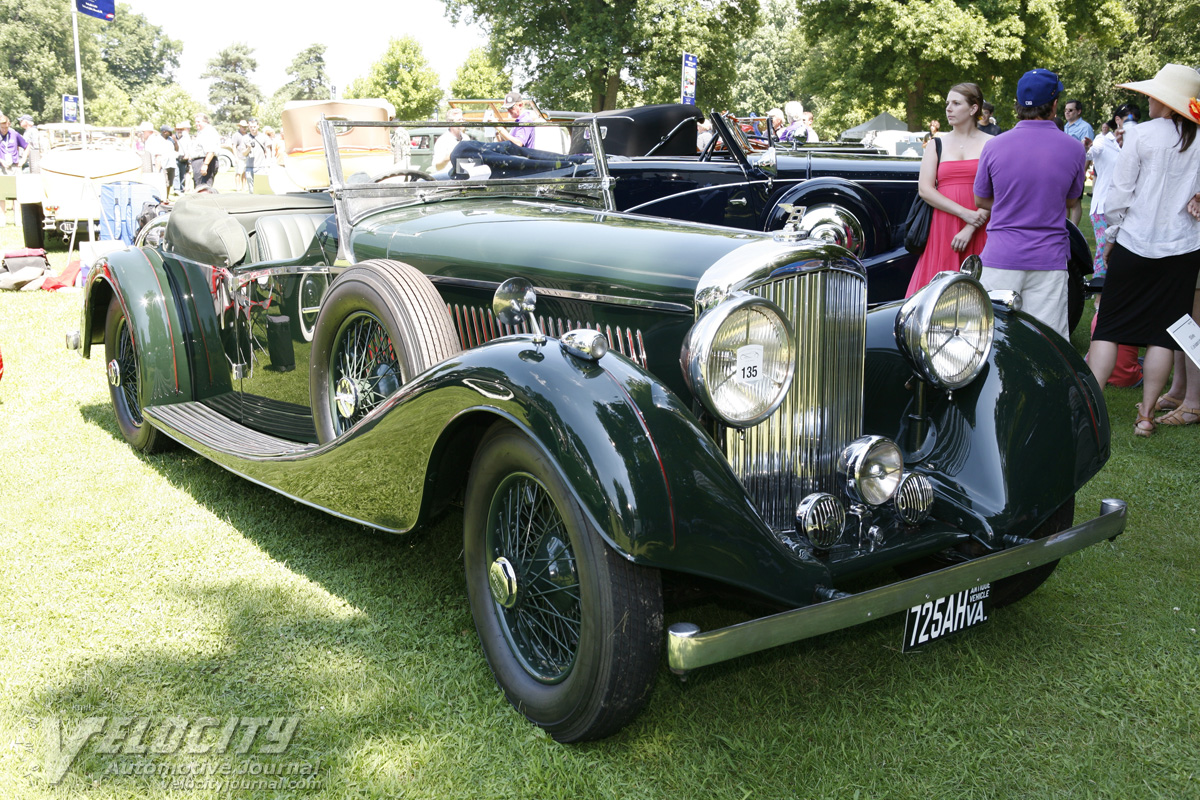 1936 Bentley 4 1/4 liter Roadster by Vanden Plas