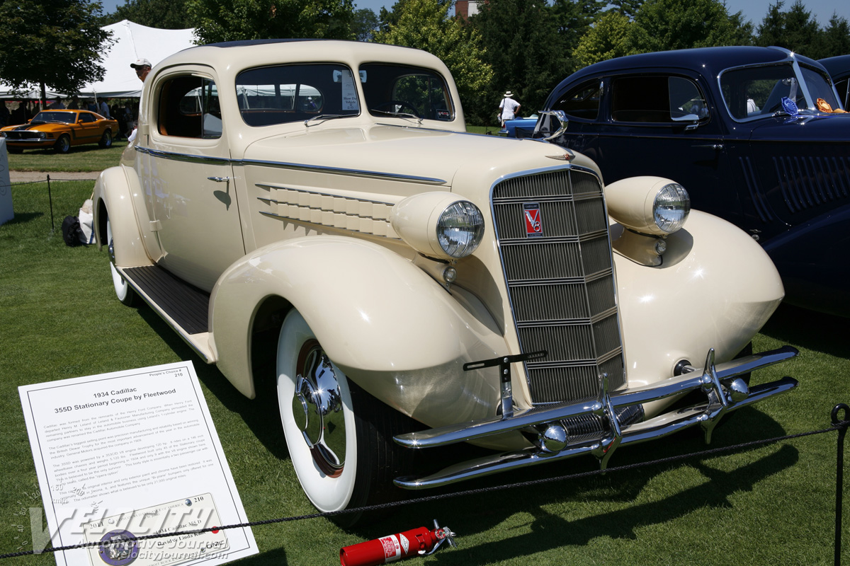 1934 Cadillac 355-D Stationary Coupe by Fleetwood