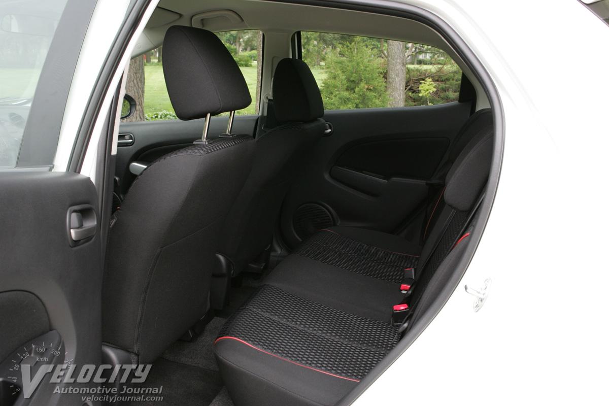 2011 Mazda MAZDA2 rear interior