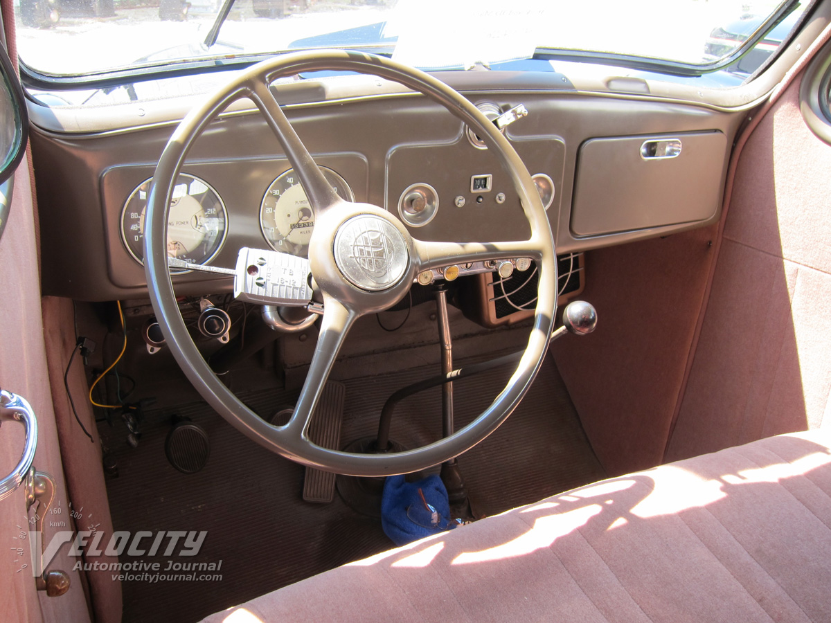 1937 Plymouth P4 4-door Interior