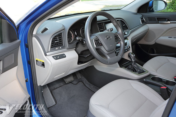 2017 Hyundai Elantra Limited sedan Interior