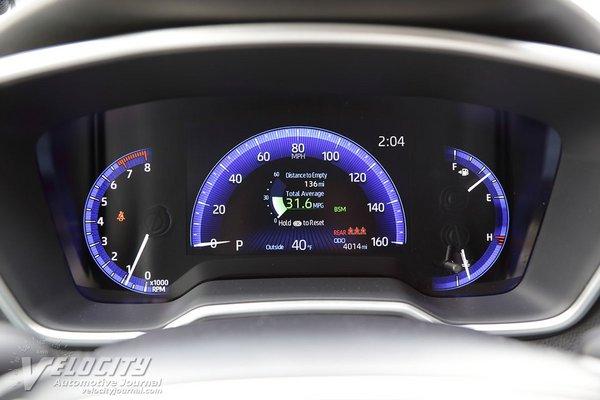 2020 Toyota Corolla XSE sedan Instrumentation