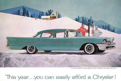 1960 Chrysler Windsor sedan ad