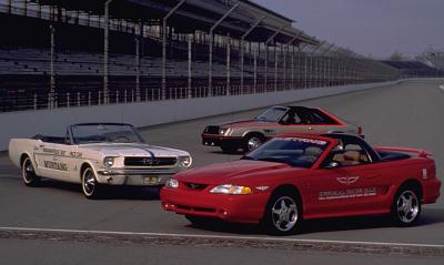 1964, 1979, 1994 Ford Mustang Indy Pace Cars