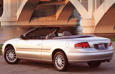 2001 Chrysler Sebring convertible interior