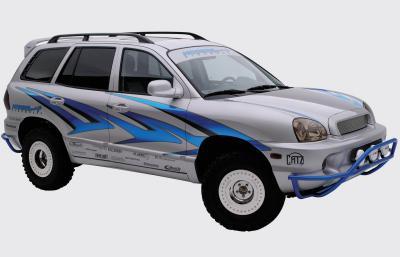 2003 Hyundai Santa Fe SEMA car by Modern ImageSignworks