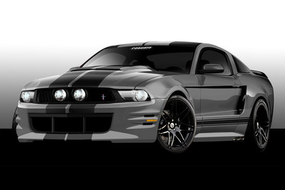 2011 Ford Mustang by Forgiato Wheels