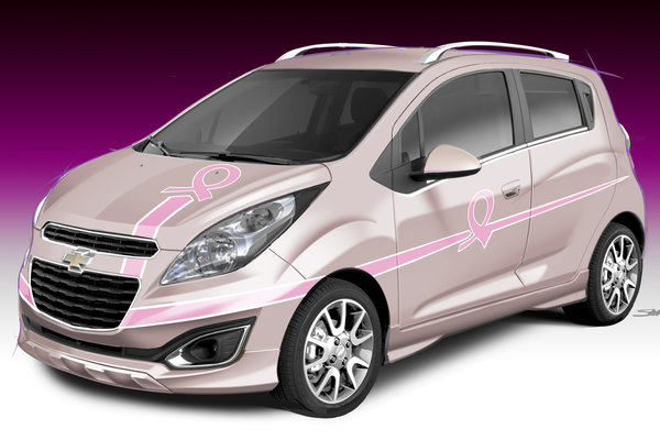 2012 Chevrolet Spark Pink Out Cancer Awareness