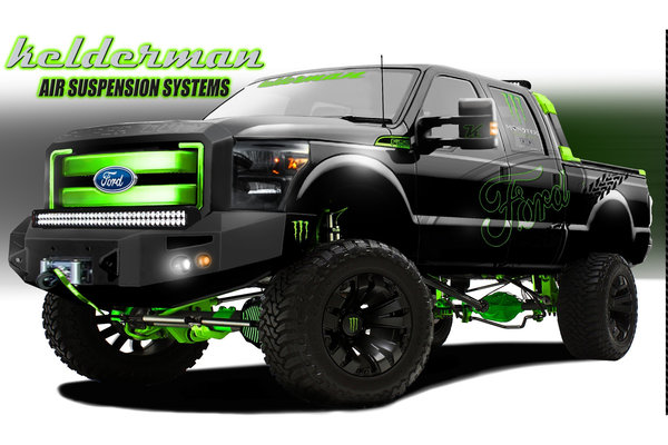2012 Ford F-150 FX2 by Kelderman Air Suspension Systems
