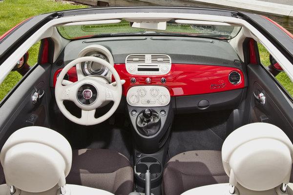 2013 Fiat 500 C Interior