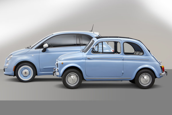 2014 Fiat 500 1957 Edition and 1957 Fiat 500