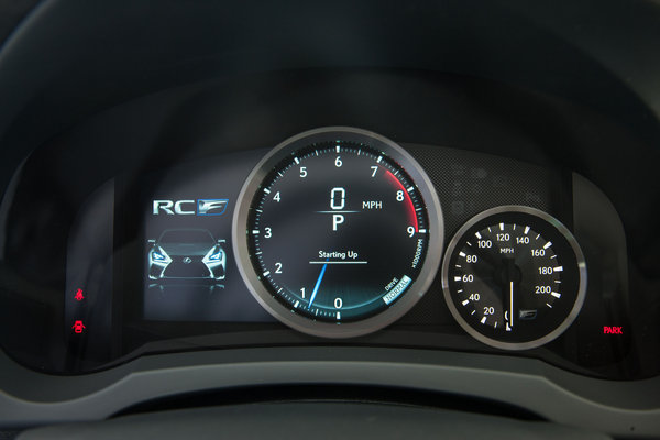 2015 Lexus RC F Instrumentation