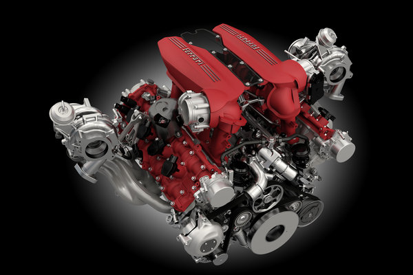2016 Ferrari 488 GTB Engine