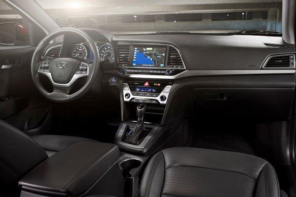 2017 Hyundai Elantra sedan Interior