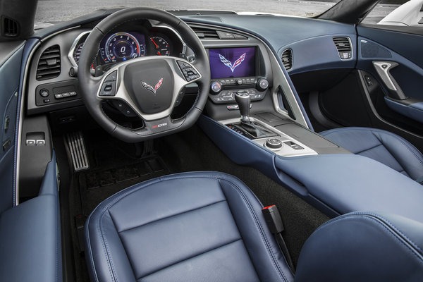 2016 Chevrolet Corvette Z06 Convertible Twilight Blue Interior
