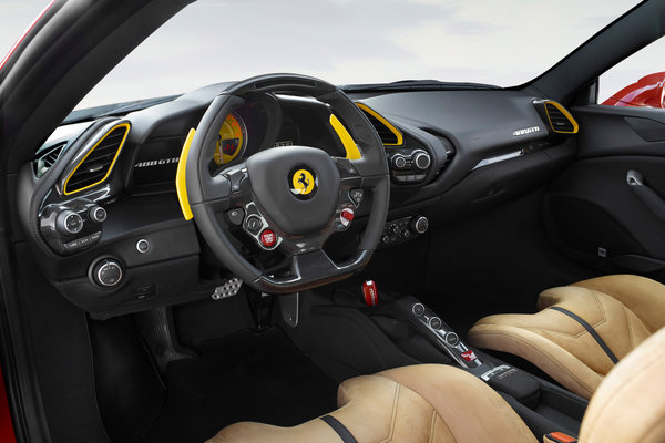 2017 Ferrari 488 GTB Interior 70th Anniversary special edition