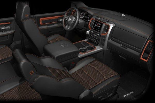 2017 Ram Ram 1500 Sport Crew Cab Ignition Orange Edition Interior