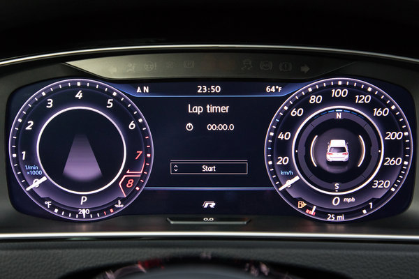 2018 Volkswagen Golf R 5d Instrumentation