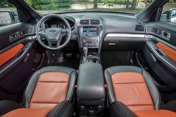 2019 Ford Explorer Desert Copper Edition Interior