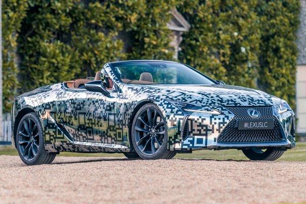 2019 Lexus LC Convertible prototype