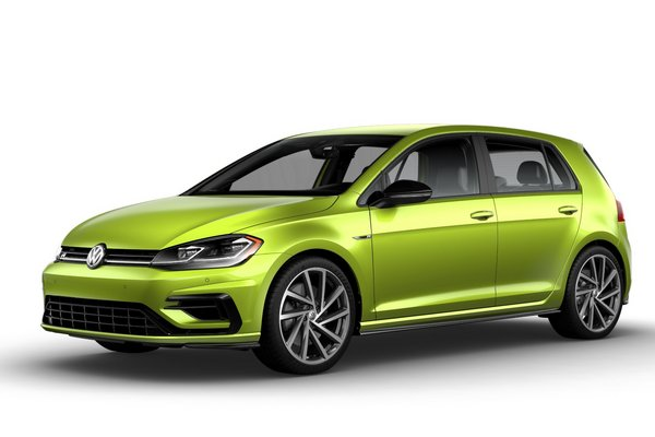 2019 Volkswagen Golf R in Viper Green