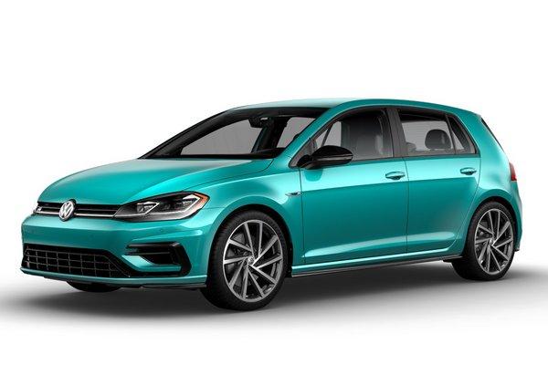 2019 Volkswagen Golf R in Sarantos Turquoise