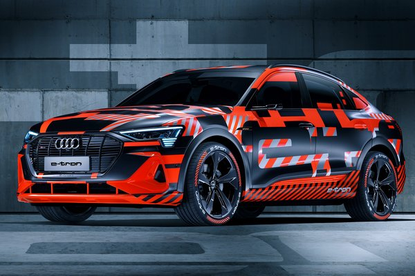 2019 Audi e-tron Sportback prototype